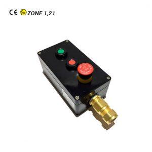 Botonera Marcha-Paro-Seta de Emergencia ATEX para Cable Armado