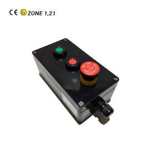 Botonera Marcha-Paro-Seta de Emergencia ATEX para Cable No Armado